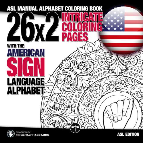 ASL Manual Alphabet Coloring Book
