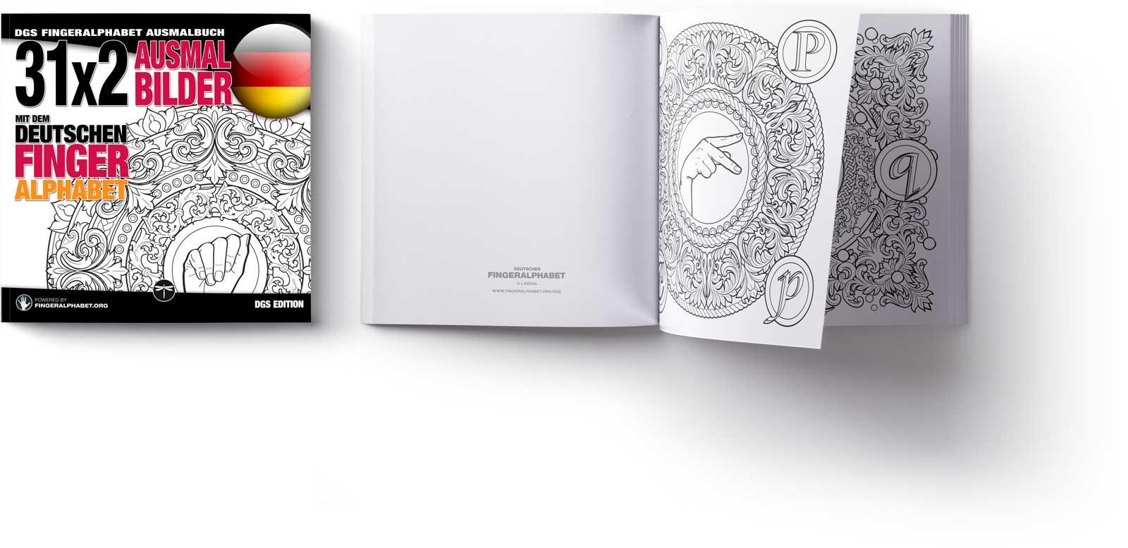 DGS Fingeralphabet Ausmalbuch