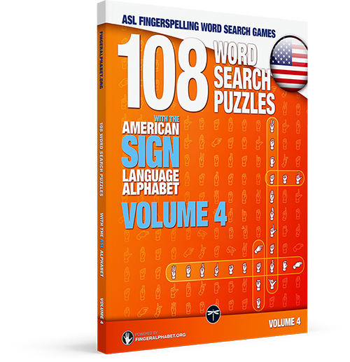 ASL Fingerspelling Word Search Puzzle Book: Volume 4