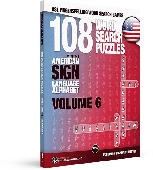 ASL Fingerspelling Word Search Puzzle Book: Volume 6